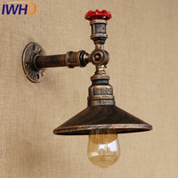 Iron Water Pipe Lamp Adjust Industrial Vintage Wall Light Fixtures Loft Style Edison LED Wall Sconces Indoor Lighting Lampara|iron water pipe|edison wall sconce|wall sconce -
