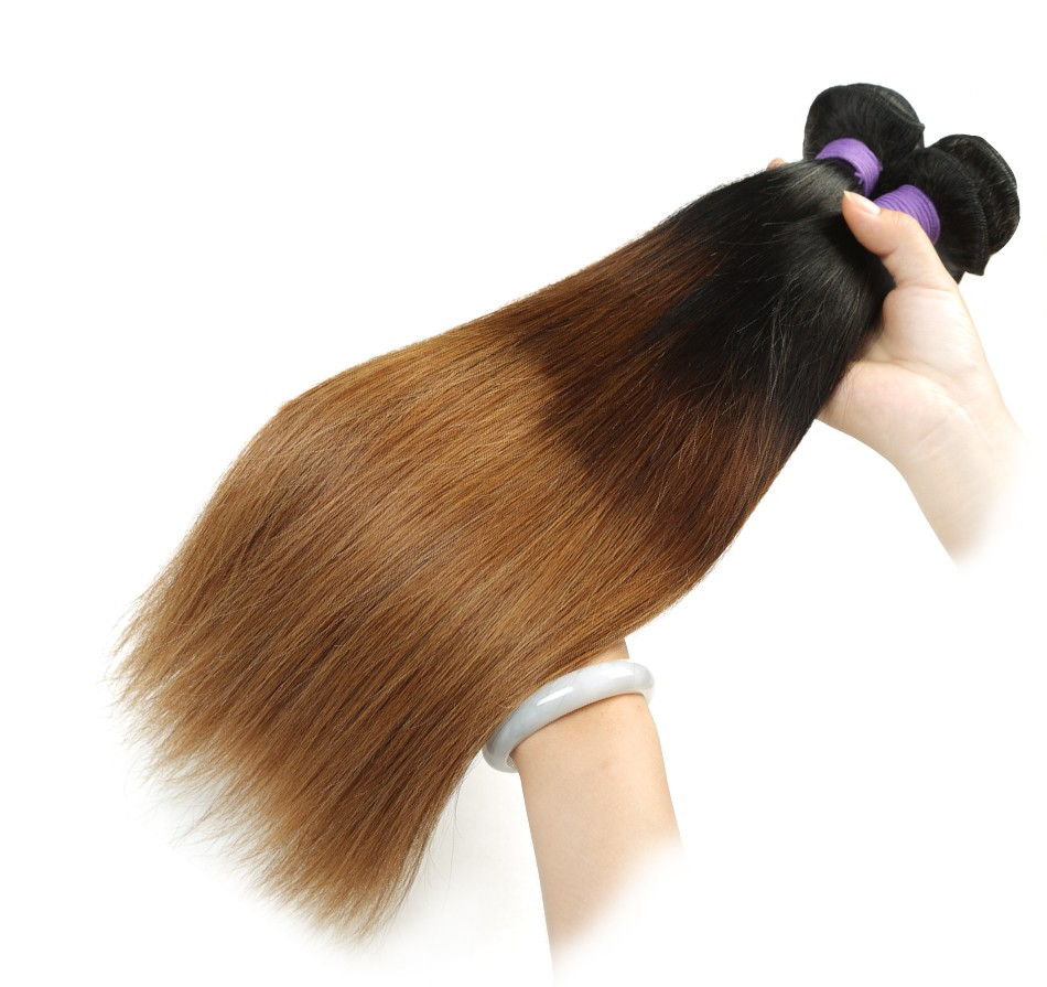 ombre straight hair weaving bundles