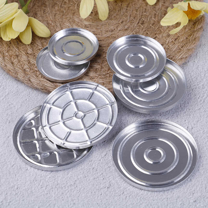5PCS DIY Aluminum Round Makeup Refill Pans Eyeshadow Pigment Powder Palette Case Empty Cosmetic Storage Container Tools 7 Sizes