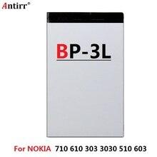 697298fa05e 1300mAh ANTIRR BP-3L BP3L Cell Phone Battery For NOKIA Lumia 710 610 303  3030 510 603