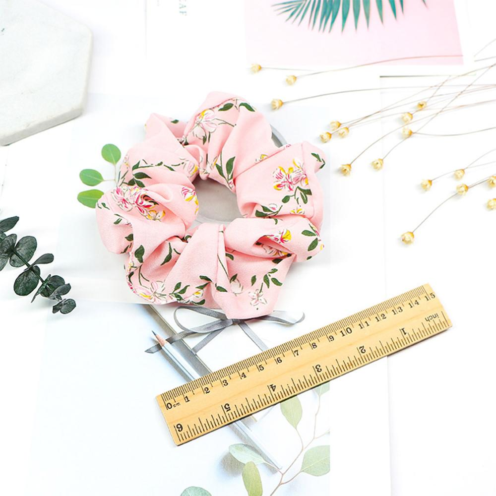 2019 New Spring Flower Scrunchie Ponytail Headband Soft Elastic Hair Ties Summer Turban Floral Hair Bands for Girls Accessories in Women 39 s Hair Accessories from Apparel Accessories