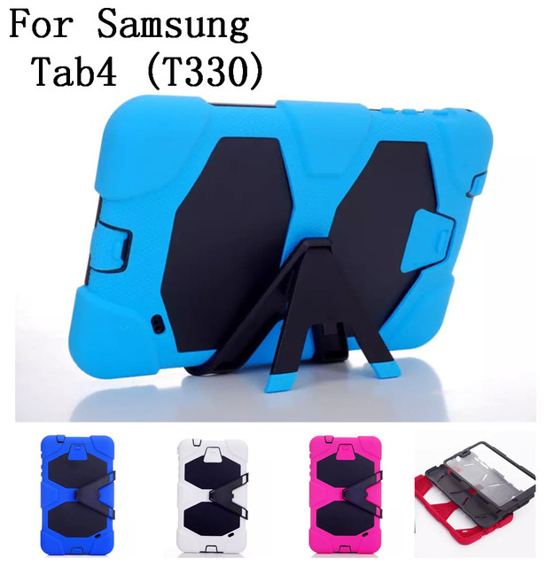 New style original quality Hard Silicone Rubber Case Cover For Samsung galaxy Tab4 T330 Tablet Rugged Protective,SKU 0114BCO