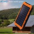 YFW 10000 mAh Banco de la Energía Solar A Prueba de agua Solar Portátil Cargador Dual USB Batería de Reserva Externa Con Linterna Para El Teléfono Inteligente