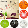 Wall Stickers 5 Colors 5PCS Indoors Decoration Circles Creative Stereo Removable 3D DIY Wall Sticker Geometric Wallpaper D8