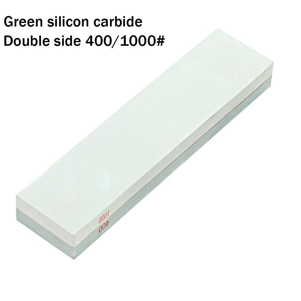 цена на Double side sharpening stone Hard green silicon carbide whetstone home use oilstone for Chef cutter blade chisel 400/1000 YS016
