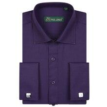 Erkek Fransız Tarzı Elbise Gömlek Erkekler Smokin Gömlek Yüksek Kaliteli Marka erkek giyim resmi gömlek için Düğün/Parti Düz Renk