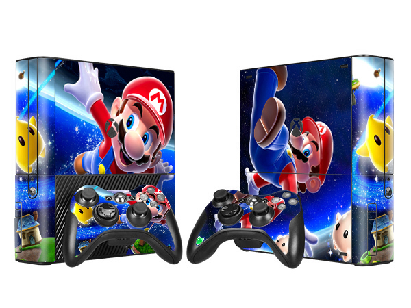 Cartoon Design Vinyl Skin Sticker For Xbox 360E Console + 2 Controllers