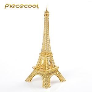 Piececool 3D Metal Puzzle Eiffel Tower Architecture Building DIY Assemble Model Kits P003 Jigsaw Toys