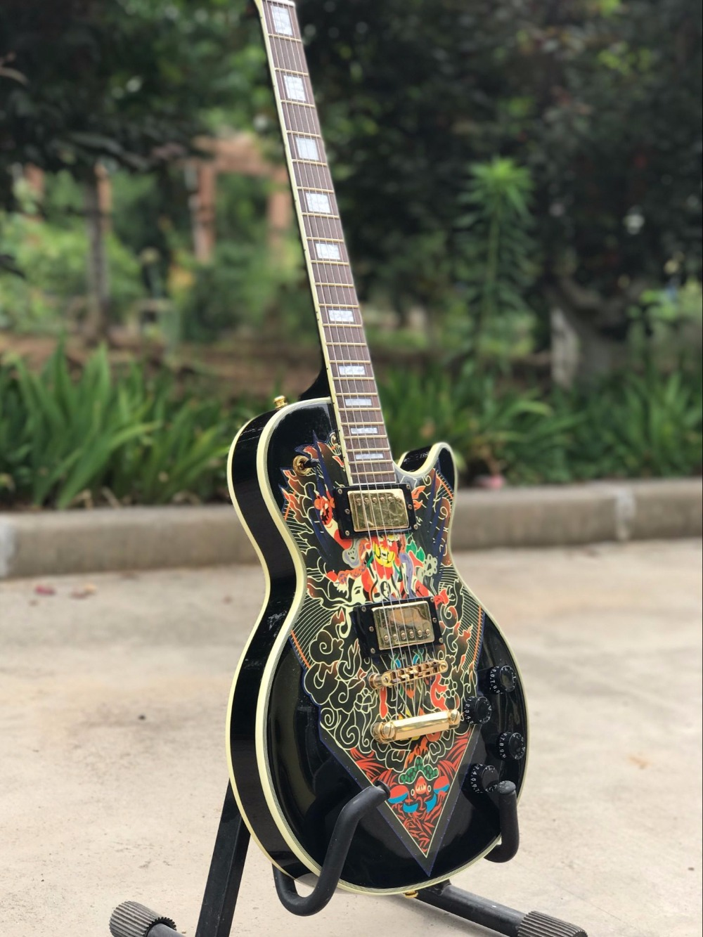 Vicers  High quality , electric guitar deliver EMS free shipping,Black large guitar china s es p guita wholesale newest explorer electric guitar high quality ems free shipping free shipping