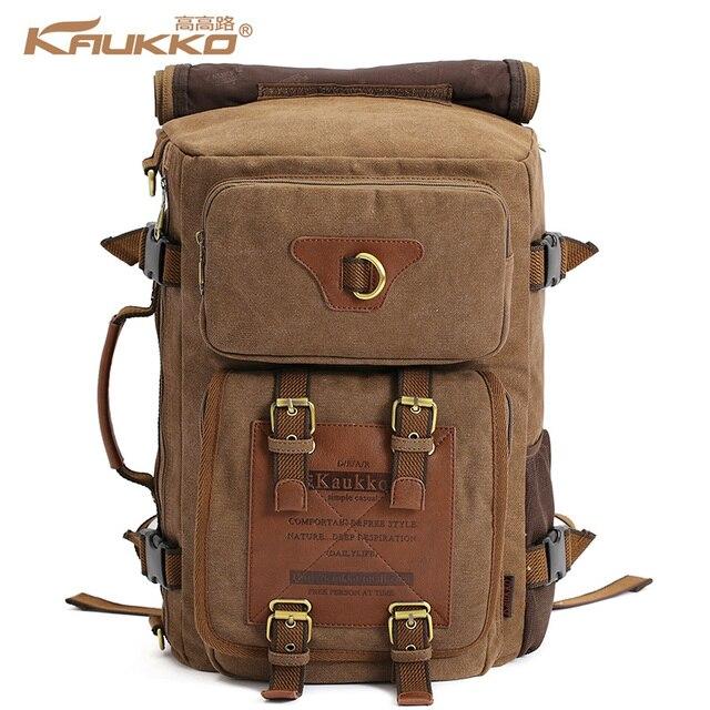 fd4cab5c969d9 KAUKKO vintage men's backpacks rucksack canvas shoulder bags luggage travel  creeper backpack bag