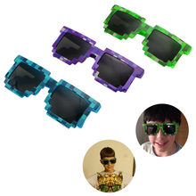 New Novelty Pixel Mosaic Glasses Sunglasses Party Cosplay Photo Prop Toy Unisex(China)