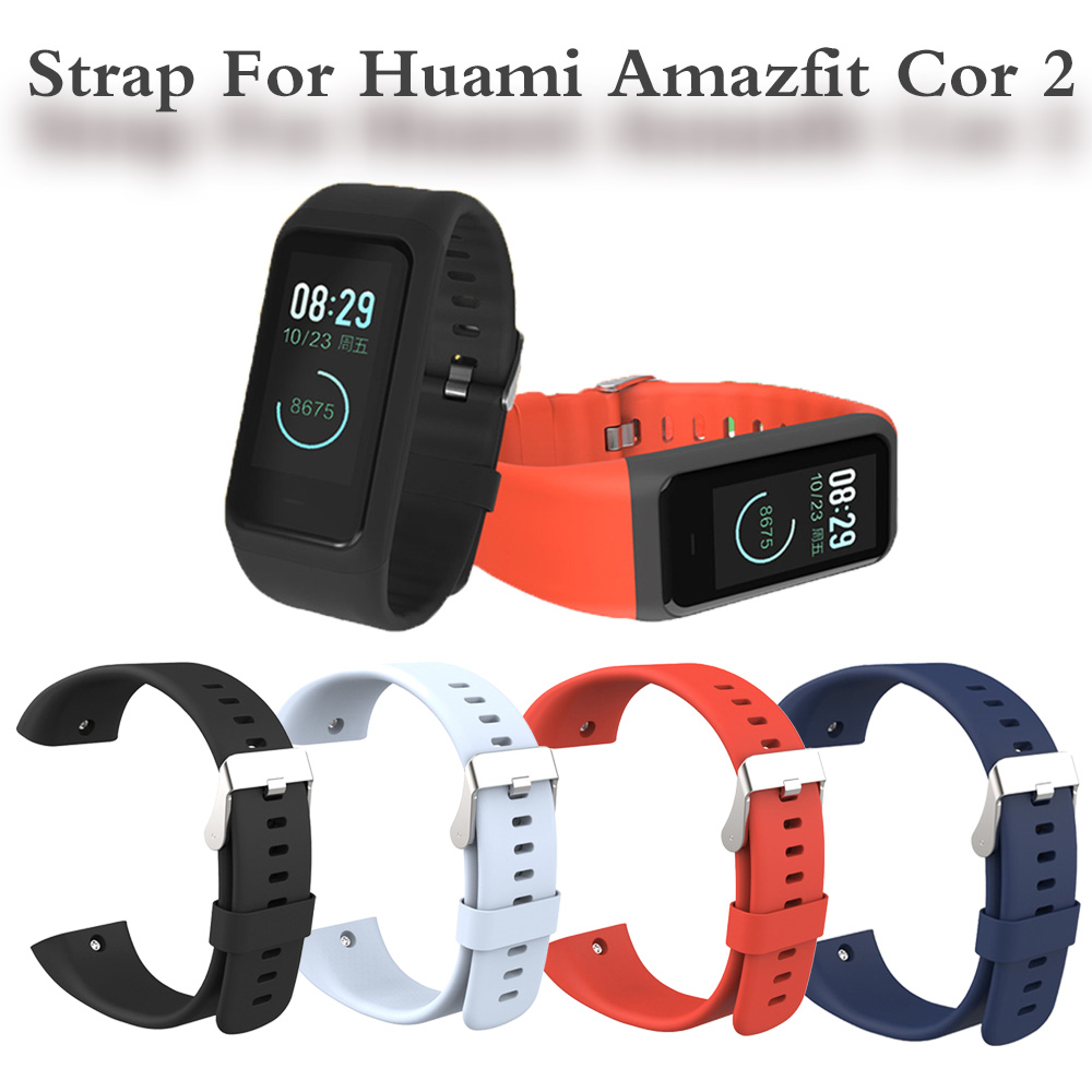 Sillicone Wrist Strap For Huami <font><b>Amazfit</b></font> <font><b>Cor</b></font> <font><b>2</b></font> Smart Wristband Replacement Comfy Colorful <font><b>Bracelet</b></font> For <font><b>Amazfit</b></font> <font><b>Cor</b></font> <font><b>2</b></font> image
