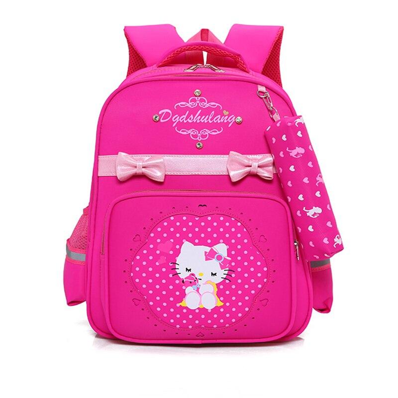 Рисунок «Hello Kitty» рюкзак детский школьный основной Дети сумка мультфильм школьные рюкзаки школьные сумки для девочек-подростков Mochila plecak