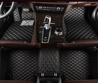 car floor mat 3D CAR mat for Mitsubishi Outlander 2005 2019 years II III car waterproof PU Leather car Mats, carpet floor Style