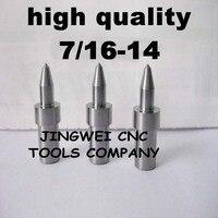 Hohe qualität hartmetall fluss drill America system UNC 7/16-14 (10,2mm) rund, form bohrer für edelstahl