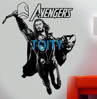 Film Thor Boys Wall Decal Marvel Comics Vinyl Sticker Superhero Movie Poster Room Decor Art Mural
