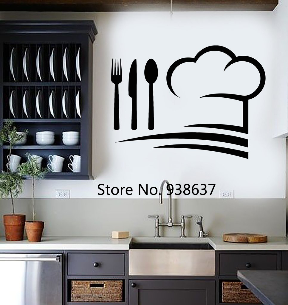 Chef Hat Wall Decals Vinyl Art Wall Stickers Home Decor ...