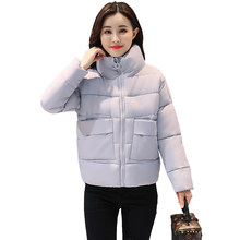 Cheap wholesale 2017 new Autumn Winter Hot selling women's fashion casual warm jacket female bisic coats J76-17809Z(China)