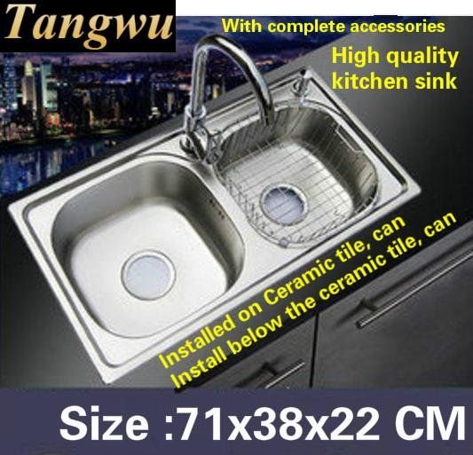 Tangwu Multi function large kitchen sink food grade 304 stainless ...
