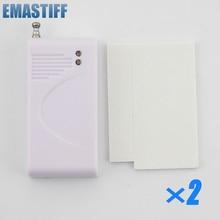 eMastiff Wireless 2Pcs Glass Vibration Sensor for Our Home Alarm Home Security System 433Mhz Break Sensor