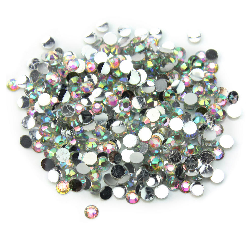Rhinestone jewels for crafts - 1000pcs Lot 3mm 14 Facets Round Resin Crystal Rhinestone Gems Flatback Ab Beads Diy Craft