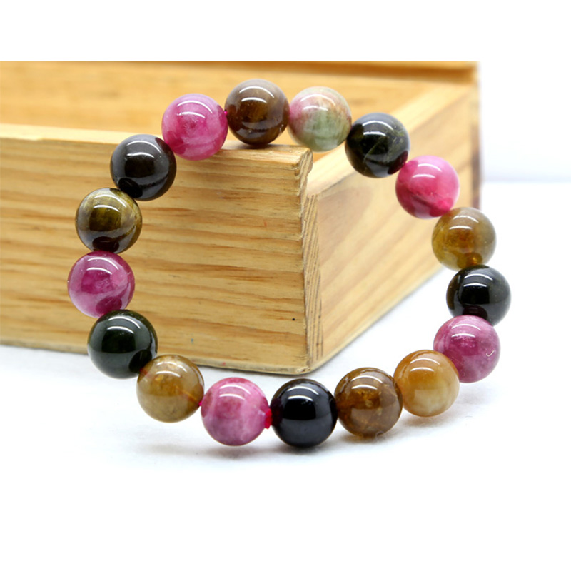 Wholesale Genuine Natural Mix Tourmaline Stretch Bracelet Round Big beads 11mm Fit Jewelry Wholesale Genuine Natural Mix Tourmaline Stretch Bracelet Round Big beads 11mm Fit Jewelry