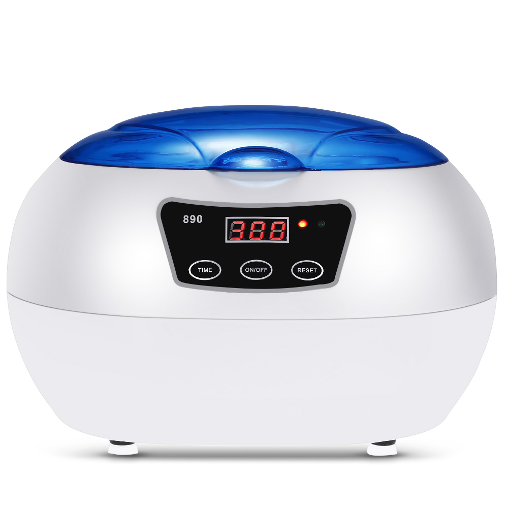 2017 Sterilizer 600ML Pot Salon Nail Tattoo Clean Metal watches Tools Equipment ultrasonic Autoclave Cleaner For Cleaning 50%off fission machine dual touch screen sterilizer dental whitening tattoo clean metal gem ultrasonic cleaner autoclave tool