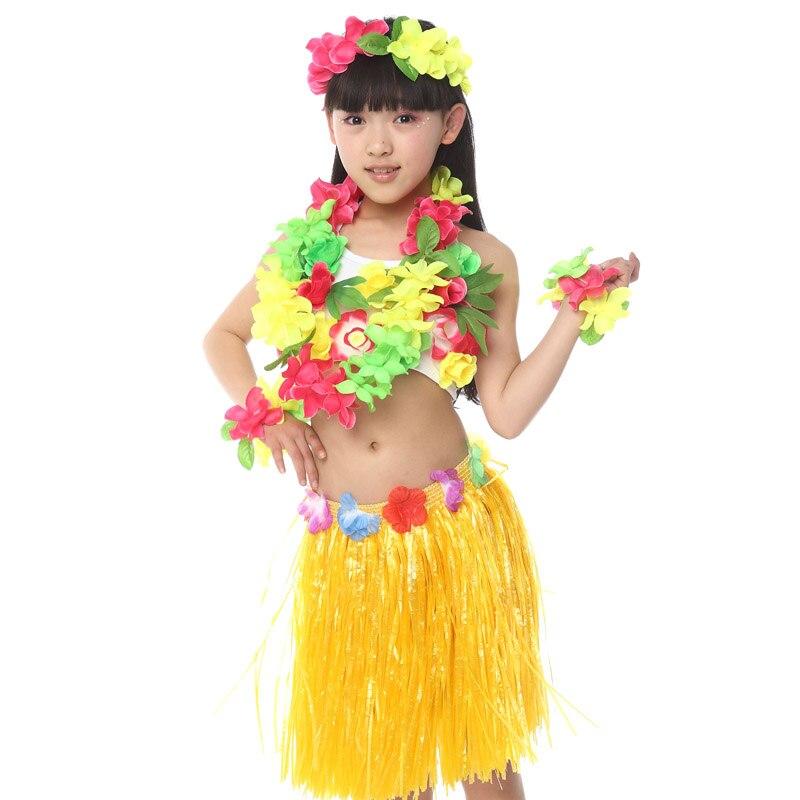3120da2c514 US $17.03 13% OFF|Free Shipping Halloween Carnival Fancy Dress Costumes for  Kids Girls Children Hawaiian Hula Skirt Ballroom Belly Dancing Clothes-in  ...