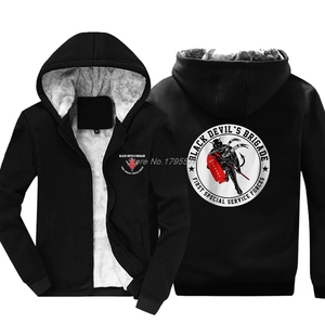 Image 2 - New Fashion Men Thicken Sweatshirt New Black Devil Special Force Usa Canada Hoodie Hip Hop Jacket Hoody Tops Harajuku