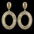 Alta qualidade de ouro branco/banhado a ouro de luxo brincos moda jóias para as mulheres, micro pavimentada AAA Cubic Zirconia gota brincos