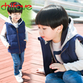 chifave 2016 Fashion Boys Autumn Winter Vest Clothes Hooded Zipper Vest Kids Boys Warm Cotton Sleeveless Winter Coat 3 Colors