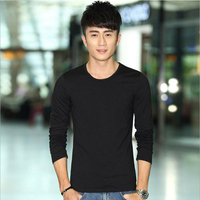 New 2017 Fashion Spring And Autumn Men Long Sleeve Brand T Shirt Comfortable Male Cotton Clothing