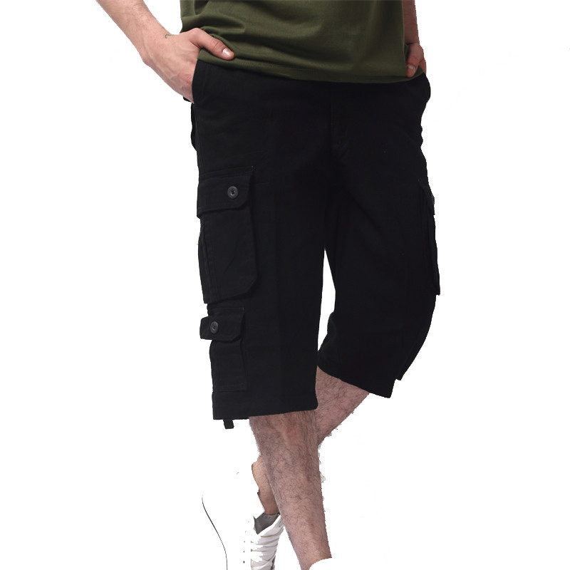 Men tactical Cargo Shorts Casual Loose Short Pants Camouflage Military Summer Style Knee Length Plus Size 5 Colors Shorts Men
