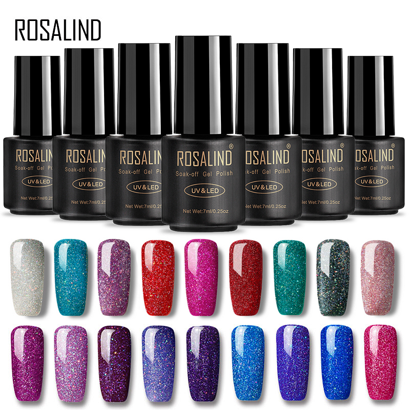 ROSALIND Gel 1S Nails rainbow Gel 7ML uv led gel nail polish Can Be Soak Off Nail Polish Nail Art UV&LED Gel Polish Varnish born pretty 12 bottles 10ml nail uv gel blue series gel polish soak off uv polish varnish 12 colors manicure nail art polish
