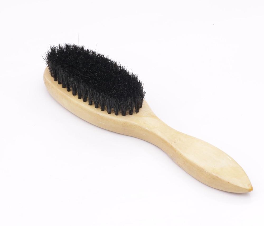 Чешаљ за косу од пластике Пластична длака + дрво + љуска од вепра Изврсна екстензија црне Баирбрусх четкице за косу СИ17Д5