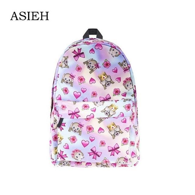Brand Monkey print backpack School Bags Bookbag for teenage girls ...