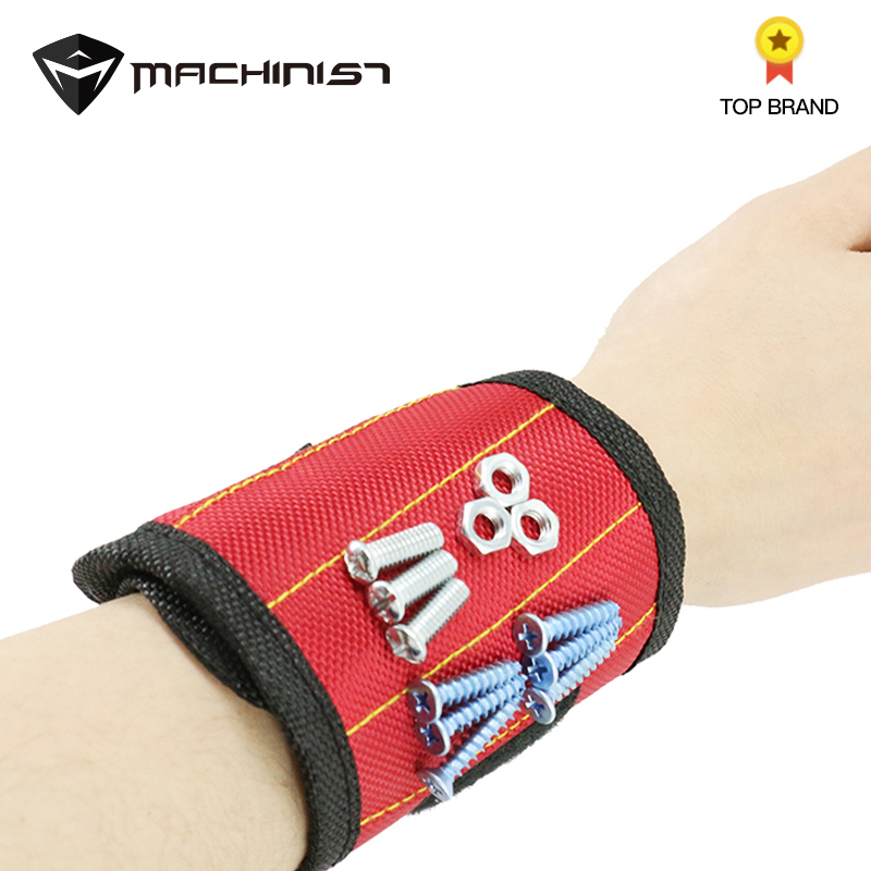 1pcs Magnetic Wristband Tool Bag Wrist Electrician Tool Belt Screws Nails Drill Bits Holder Holding Repair Tools