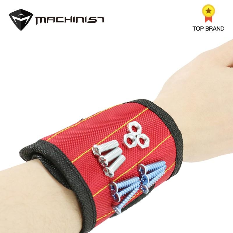 1pcs Magnetic Wristband Tool Bag Wrist Electrician Tool Belt Screws Nails Drill Bits Holder Holding Repair Tools
