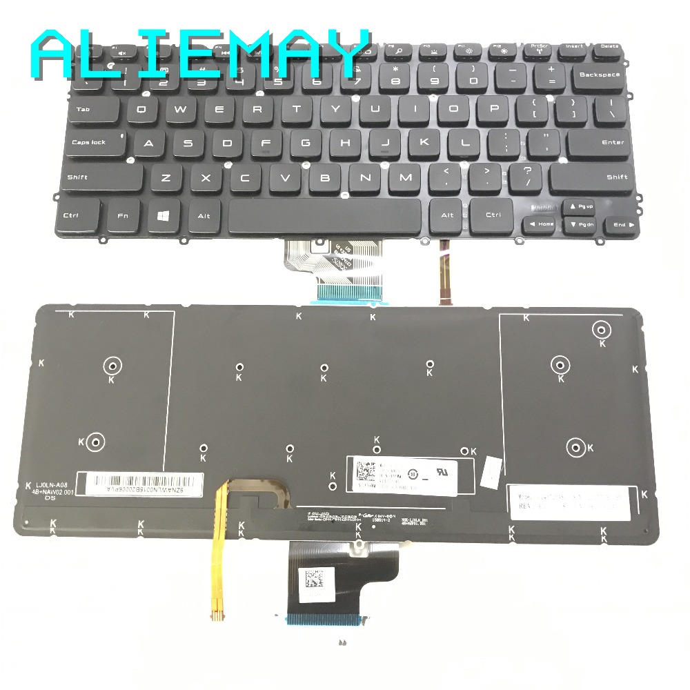 New For DELL Precision m3800 XPS 15 9530 Keyboard Backlit Latin Spanish Teclado