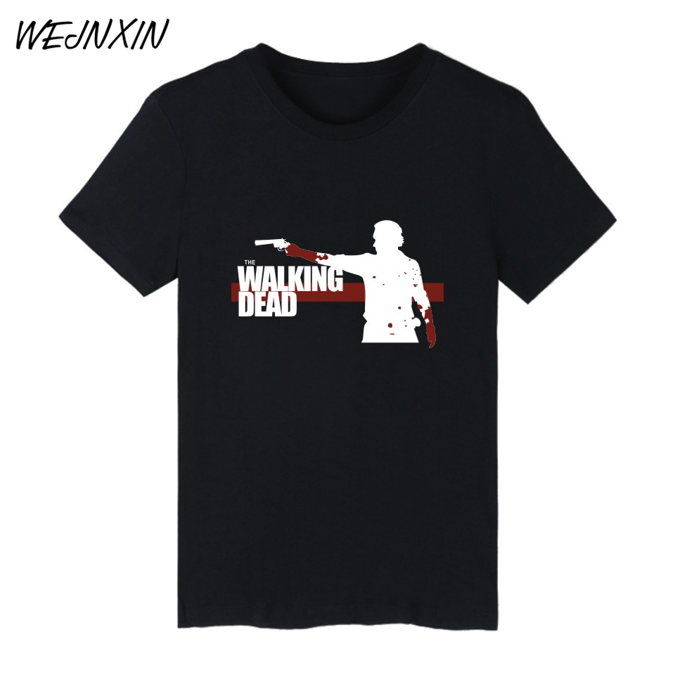 VAGROVSY The Walking Dead Zombies TShirt Summer Cotton T-shirt Men Short Sleeve T Shirts Men Women TShirt Famous in Punk Tee