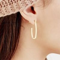 EK415 européen abstrait géométrique en forme de U boucles d'oreilles pour les femmes personnalité minimaliste métal exagéré boucle d'oreille Punk bijoux