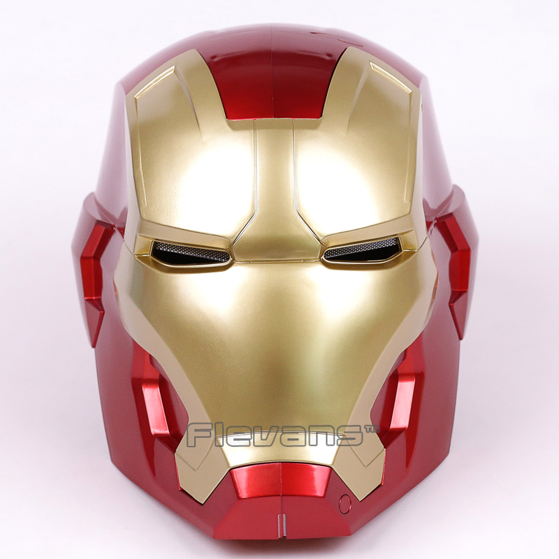 Iron Man Motorcycle Helmet Cosplay Mask for Adult Touch Sensing Mask with LED Light Collectible Model Toy 1:1 High Quality 2017 new cartoon mask the avengers superhero led iron man mask action figure model toys halloween cosplay gift for adult