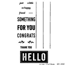 AZSG Hello Typeface Congratulations Clear Stamps/Seal For DIY Scrapbooking/Card Making/Album Decorative Silicon Stamp Crafts