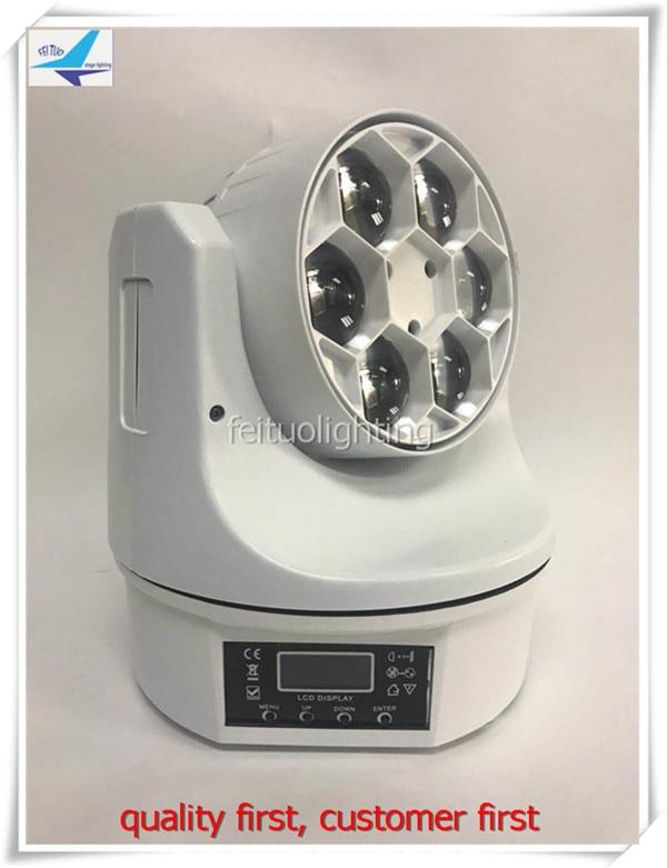 free shipping 2pcs/lot New Bee Eye Stage Moving Head Light 6x15 RGBW LED Mini DJ Disco Lighting Home Entertainment White Case