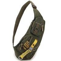 Высококачественная Водонепроницаемая нейлоновая мужская сумка через плечо для верховой езды, военная штурмовая мужская сумка на груди