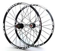 Углерода 26 ''29 27,5 24 Отверстия дисковый тормоз Горный велосипед колеса QR углерода концентраторы MTB колеса велосипеда спереди 2 сзади 5 подшип