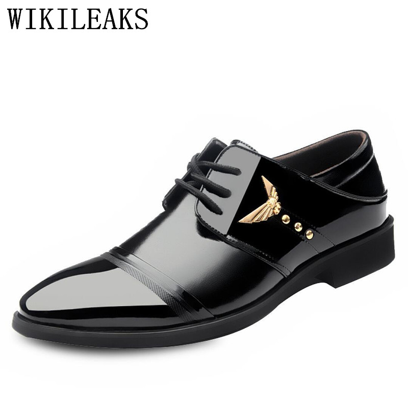 designer wedding shoes man patent leather black oxford shoes for men formal mariage mens pointed toe dress shoes zapatos hombre choudory mens designer shoes luxury brand elegant men formal shoes studded glitter loafers iron toe zapatos hombre pluse size46