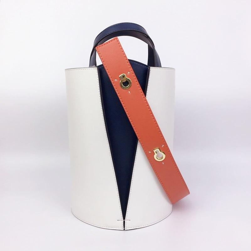 Sac à provisions en cuir fendu de mode pour les femmes Patchwork sac de couleur contraste sacs à provisions