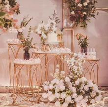 Wedding dessert table, wedding props, on-site decoration combination banquet reception area layout