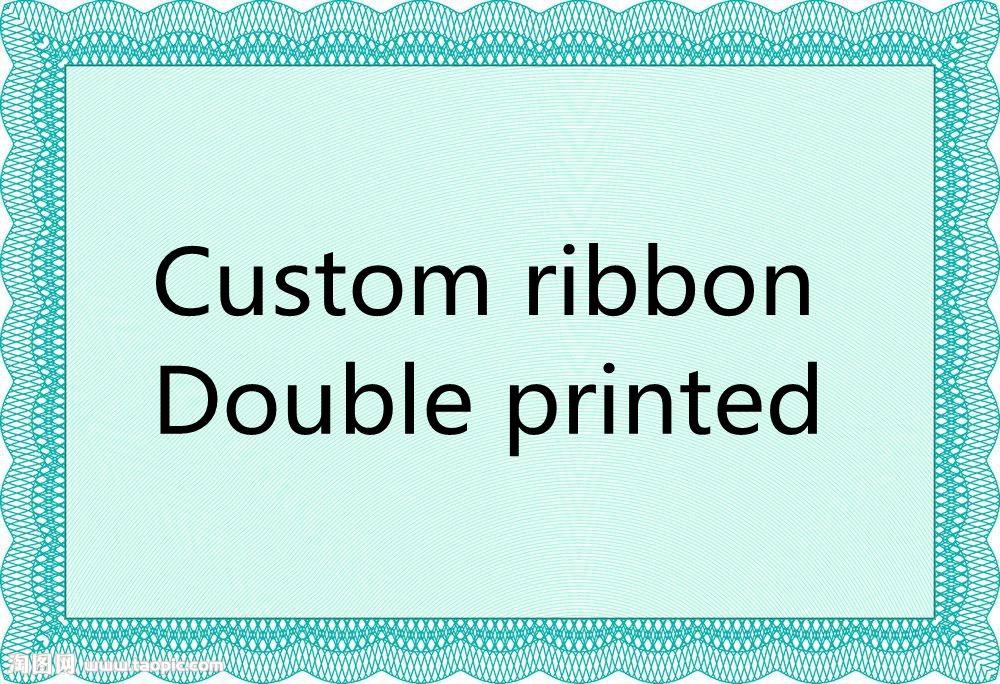 50/100 ярдов ленты на заказ с двойной печатью для той же корсажной ленты patterm